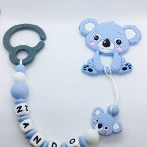 Mordedor Gancho con nombre para Carrito blue Koala