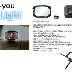 C you light espejo retrovisor con luz