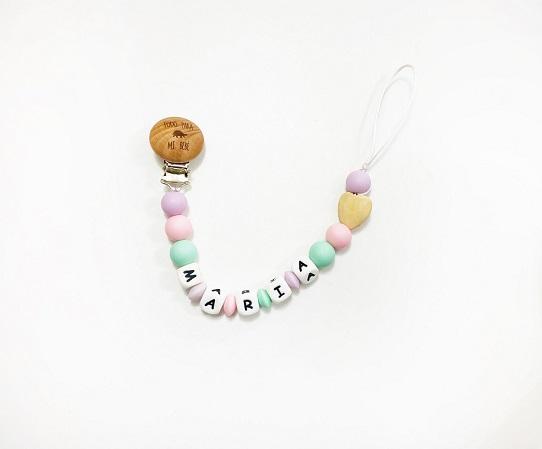 chupetero corazon candy colours