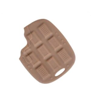 Mordedor chocolate de silicona alimenticia
