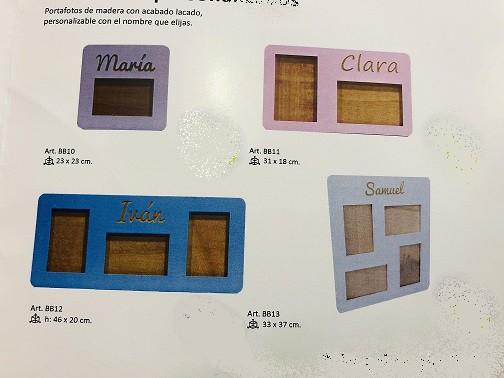 Marco de fotos de madera personalizado 1 foto hasta 6 juntas