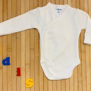 body básico manga larga blanco cruzado