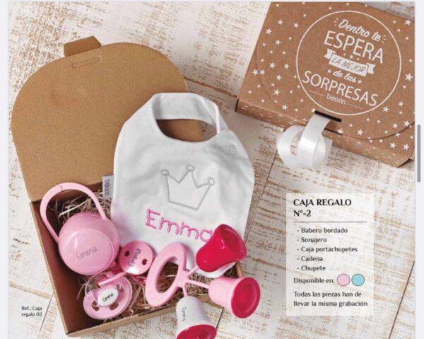 Caja Regalo Personalizada rosa 5 piezas