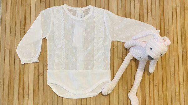Camisa body volante crudo
