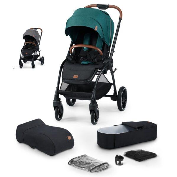 Evolution Coccon de Kindercraft Verde y gris 2 en 1+ regalos
