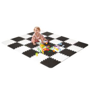 Luno Alfombra de espuma puzzle Kindercraft en Negro