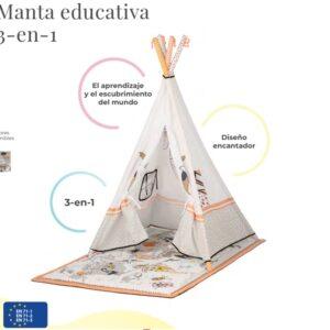 Tippy manta Educativa Tipi 3 en 1 Kindercraft