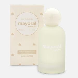 Fragancia Mayoral Newborn. Su característica principal es la salida aromática del neroli, la esencia que se extrae del naranjo amargo, el cual le da un toque cítrico con matices acuosos. E