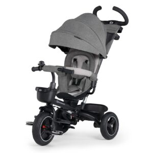 Triciclo Spinstep Kinderkraft 5en1 evolutivo giratorio 360 Gris