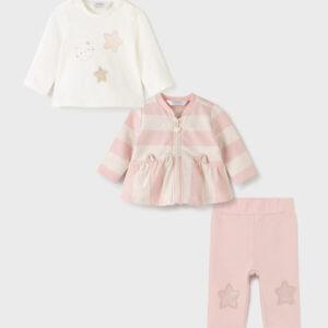 Chandal ecofriends 3 piezas dusty pink niña NB