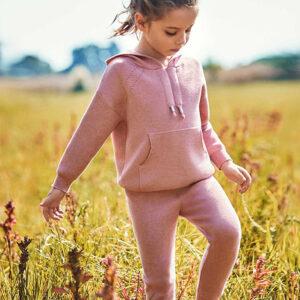 Chandal tricot niña Rosa Palo Mini