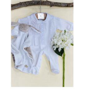 Conjunto algodón tundosado Deolina 2 piezas blanco