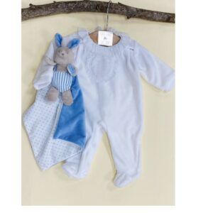 Pijama tundosado Blanco Deolinda algodón